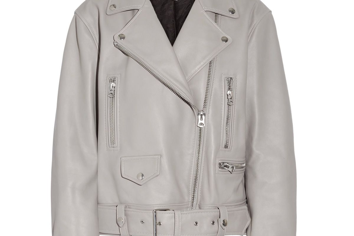 Merlyn Oversized Leather Biker Jacket