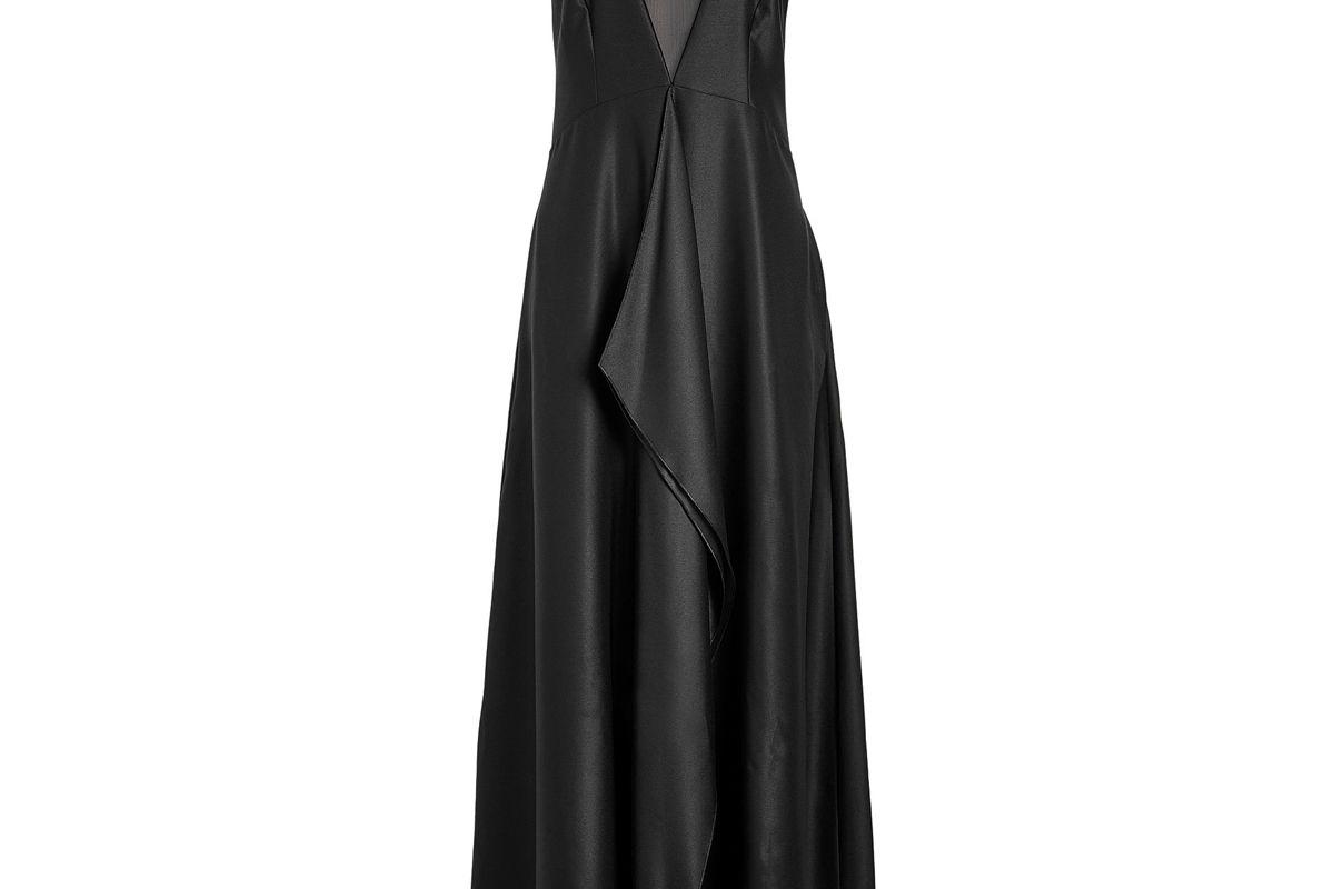 hugo kellies satin evening gown