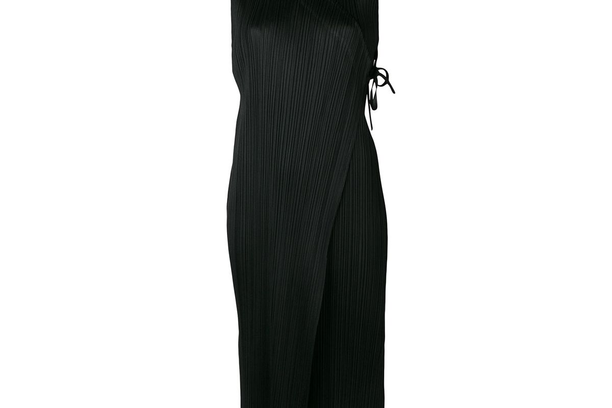 pleats please by issey miyake pleated wrap dress