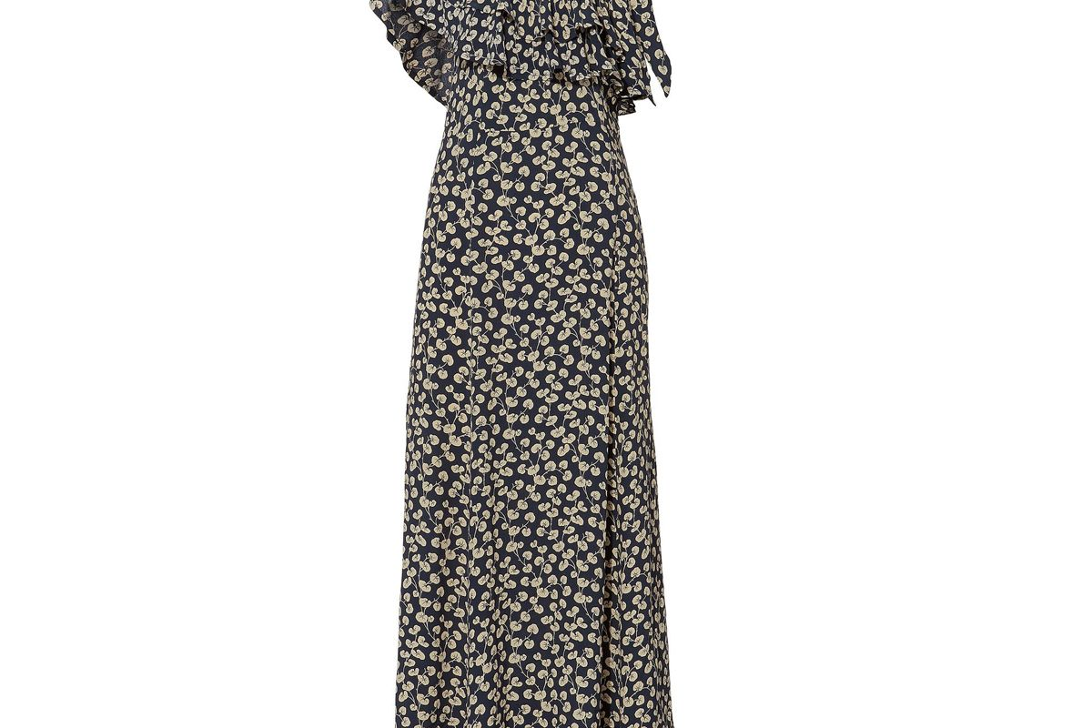 ganni roseburg ruffle dress