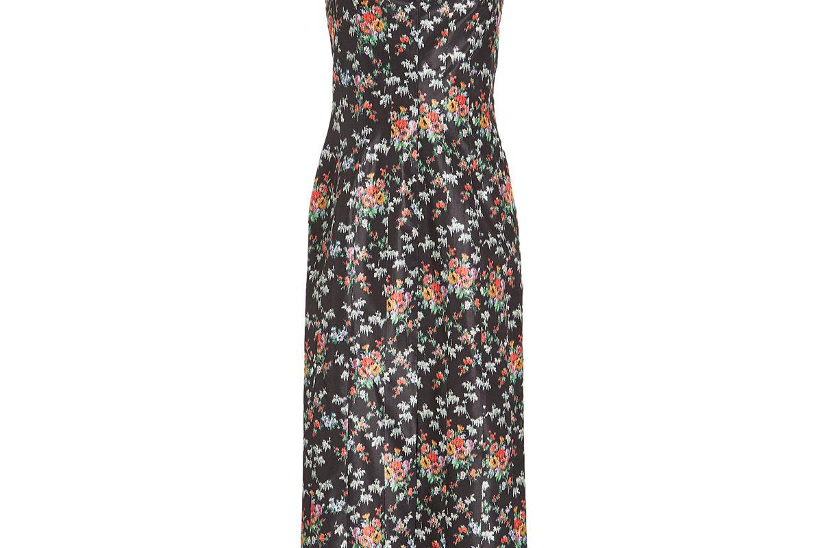 brock collection deon printed silk dress