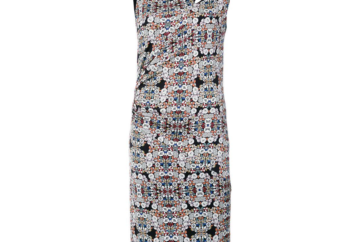 tufi duek printed cutout dress