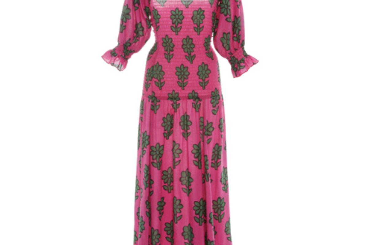 rhode resort eva smocked drop waist dress