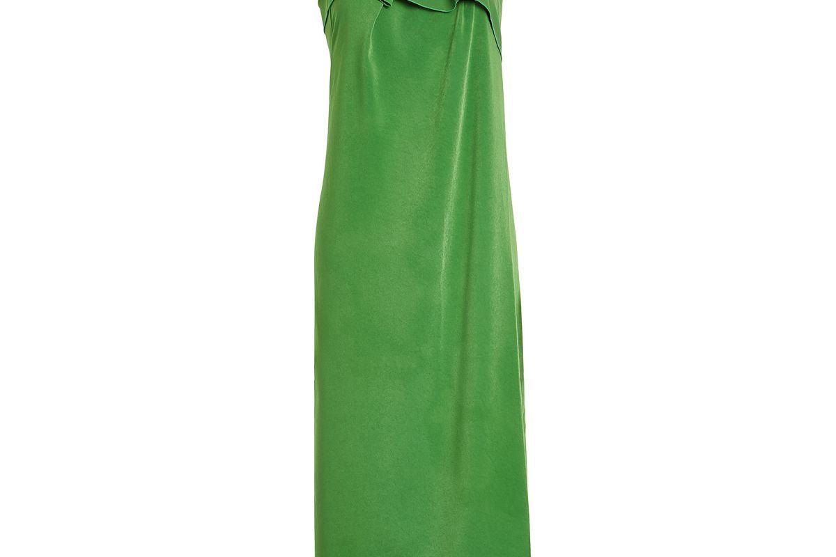 rejina pyo asymmetrical crepe dress
