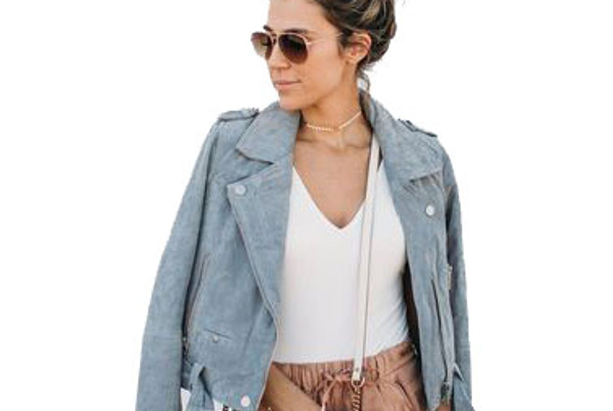 Light Grey Suede Jacket