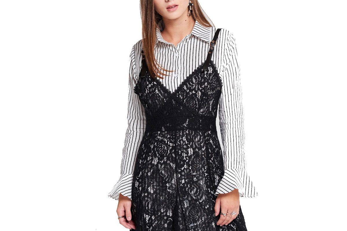 Stella Striped Shirt With Lace Dress