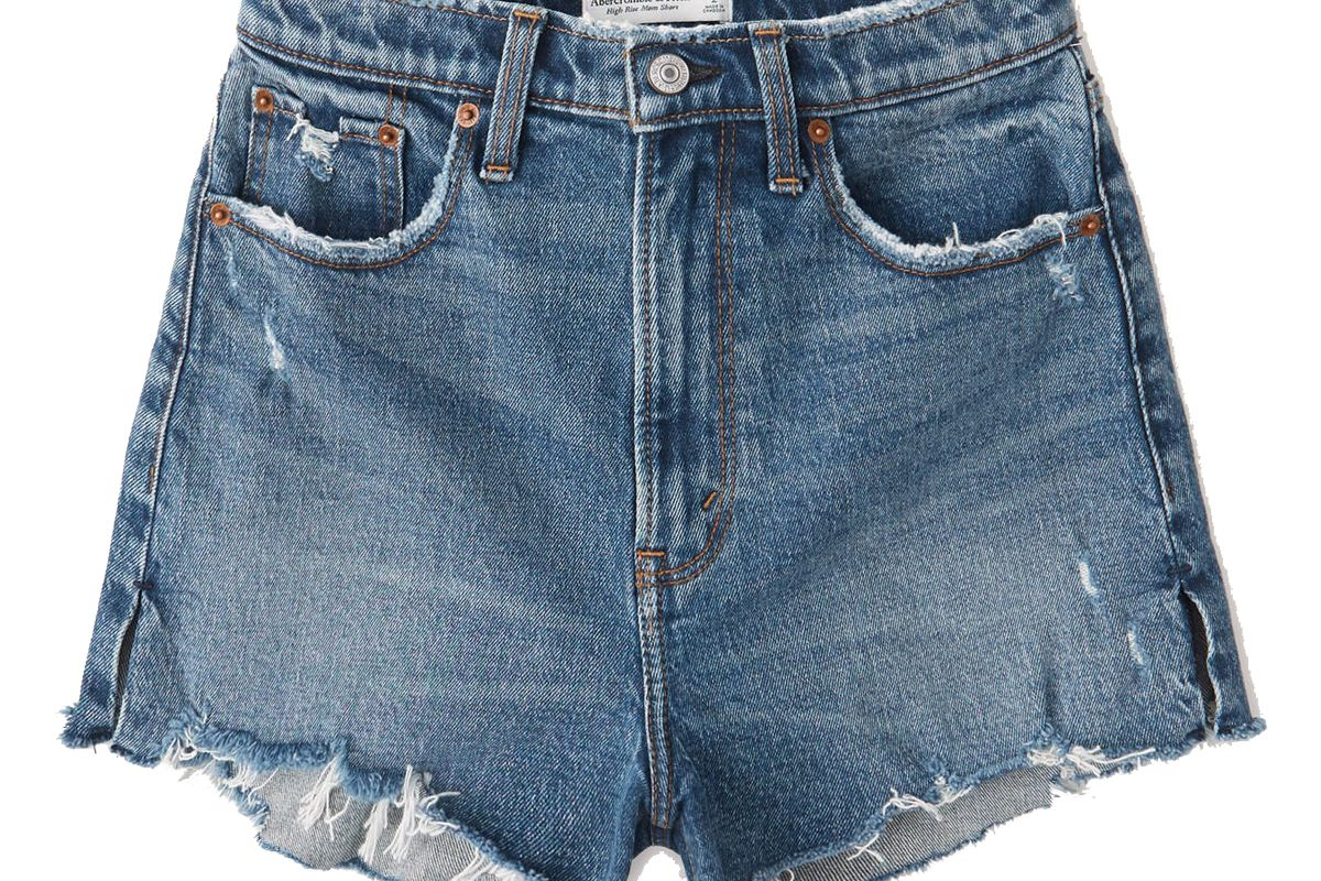 abercrombie and fitch curve love high rise mom shorts