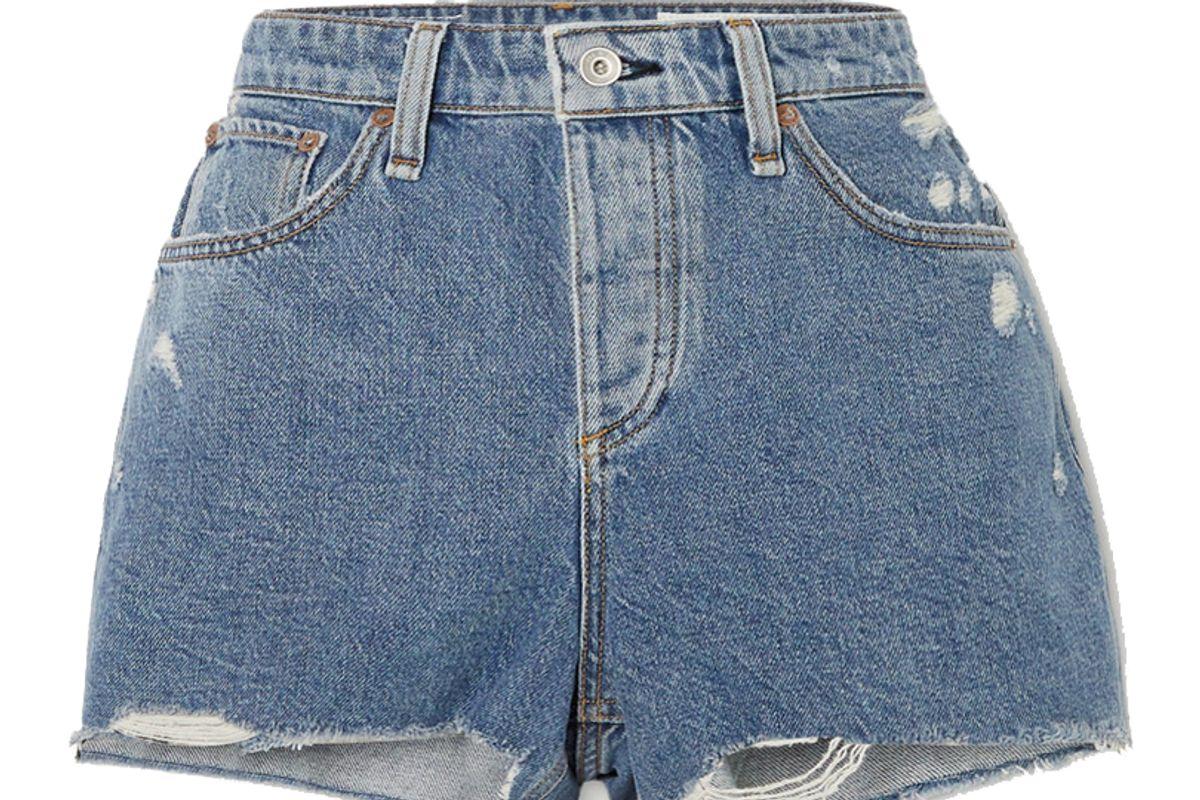 rag and bone dre distressed denim shorts