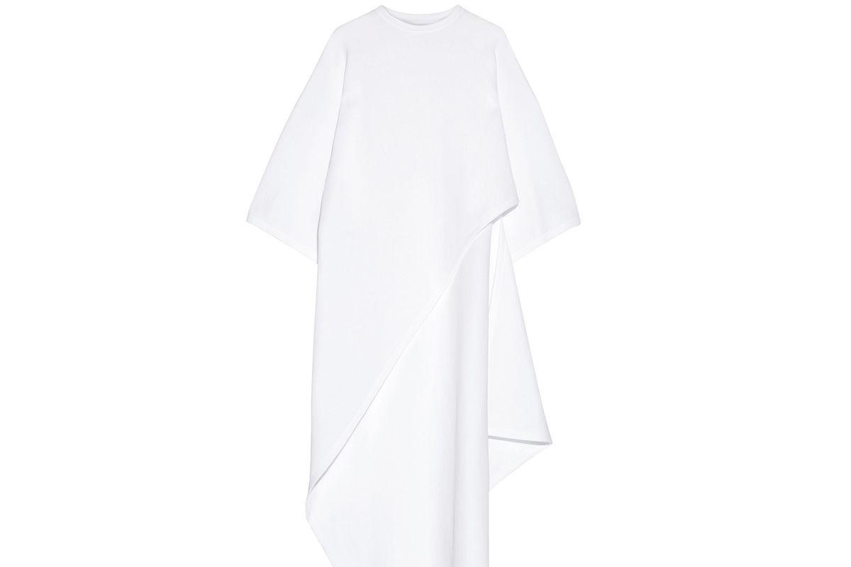 Asymmetric cotton-blend tunic