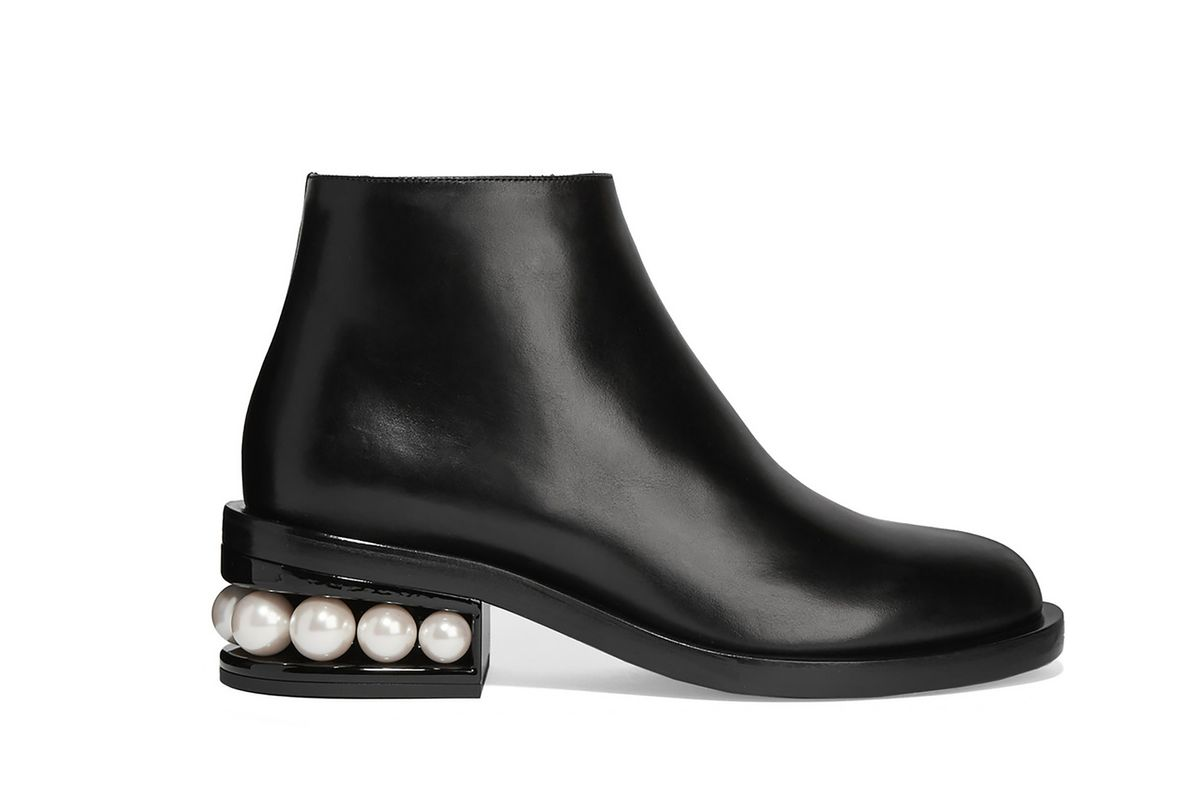 Casati embellished leather ankle boots