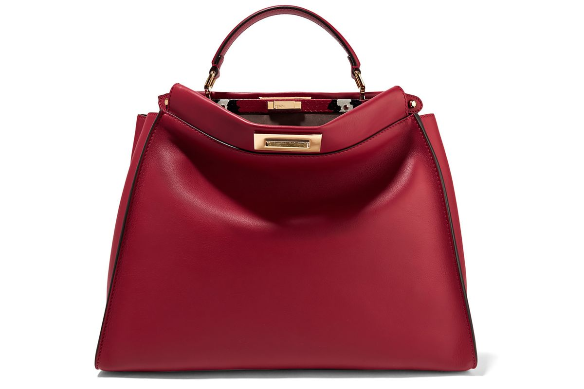 Peekaboo large ayers-trimmed leather tote