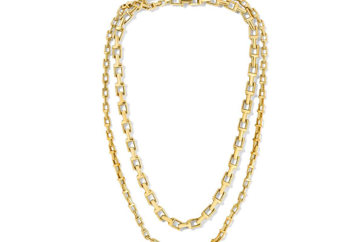 """T Chain 18 & 20"""" 18-karat gold necklace"""