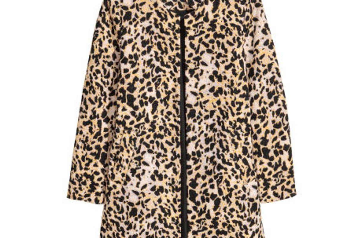 Short Coat Leopard Print