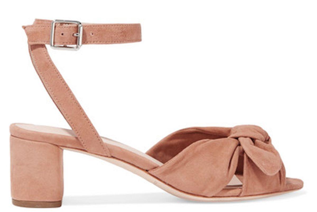 loeffler randall jill-bow detailed suede sandals