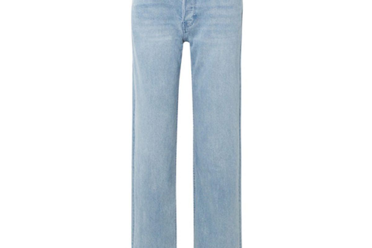 burberry high rise straight leg jeans