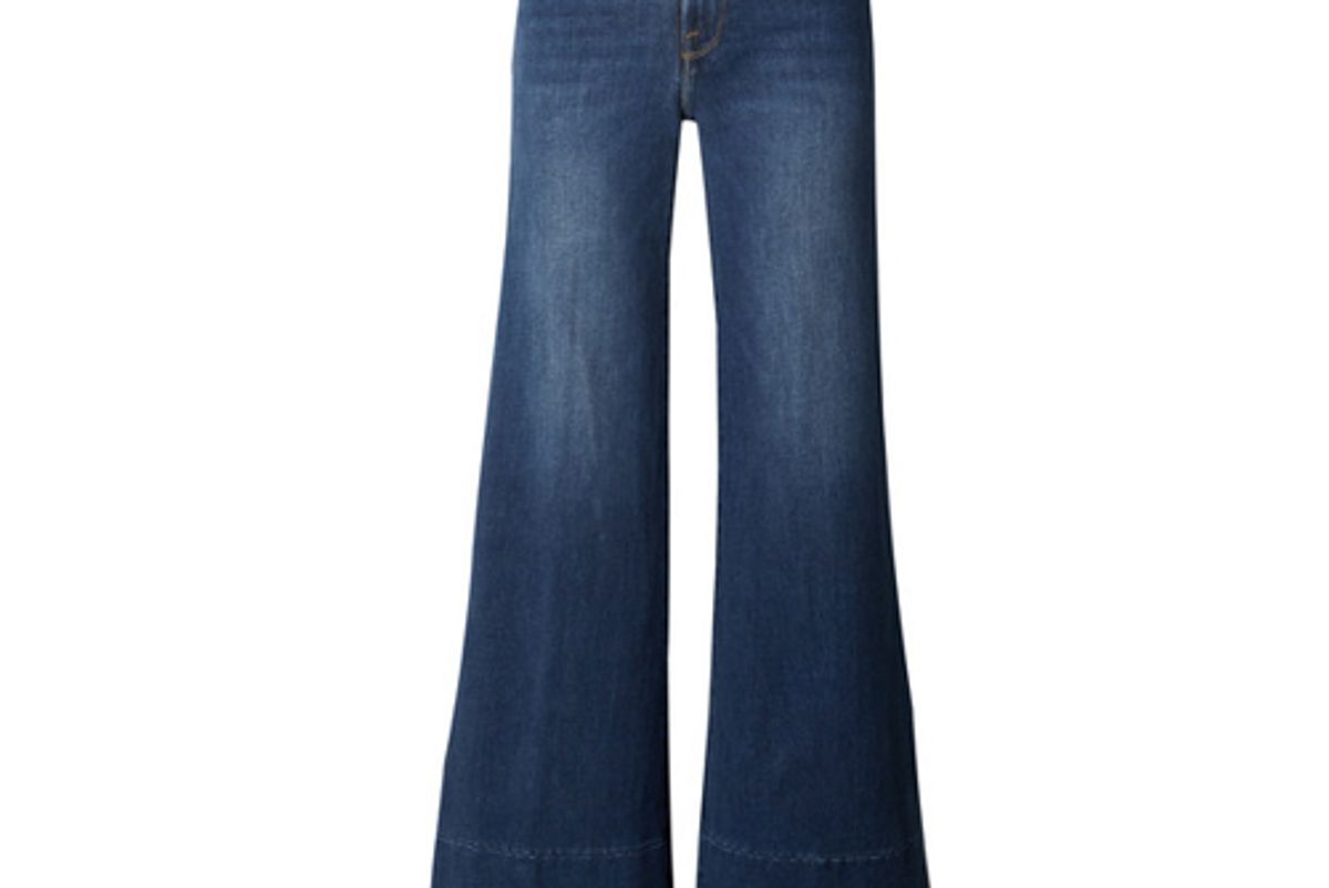le palazzo high rise wide leg jeans