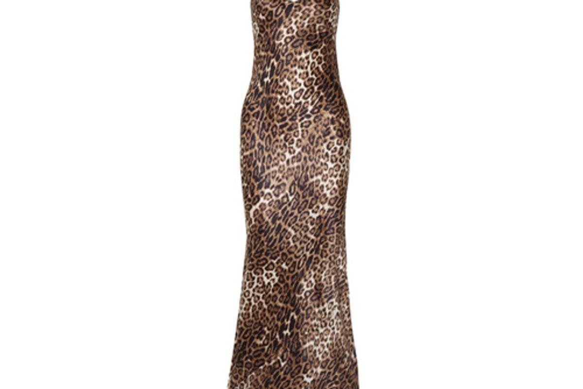 nili lotan leopard print silk satin maxi dress