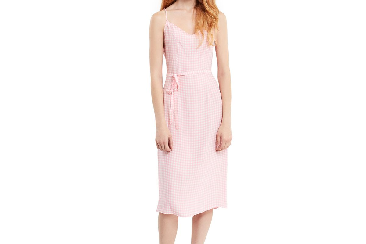 Lily Gingham Slip Dress