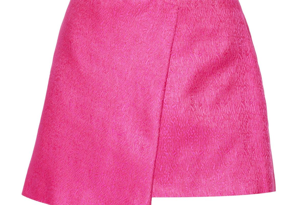 The Mini Wrap Skirt in Magenta Pink