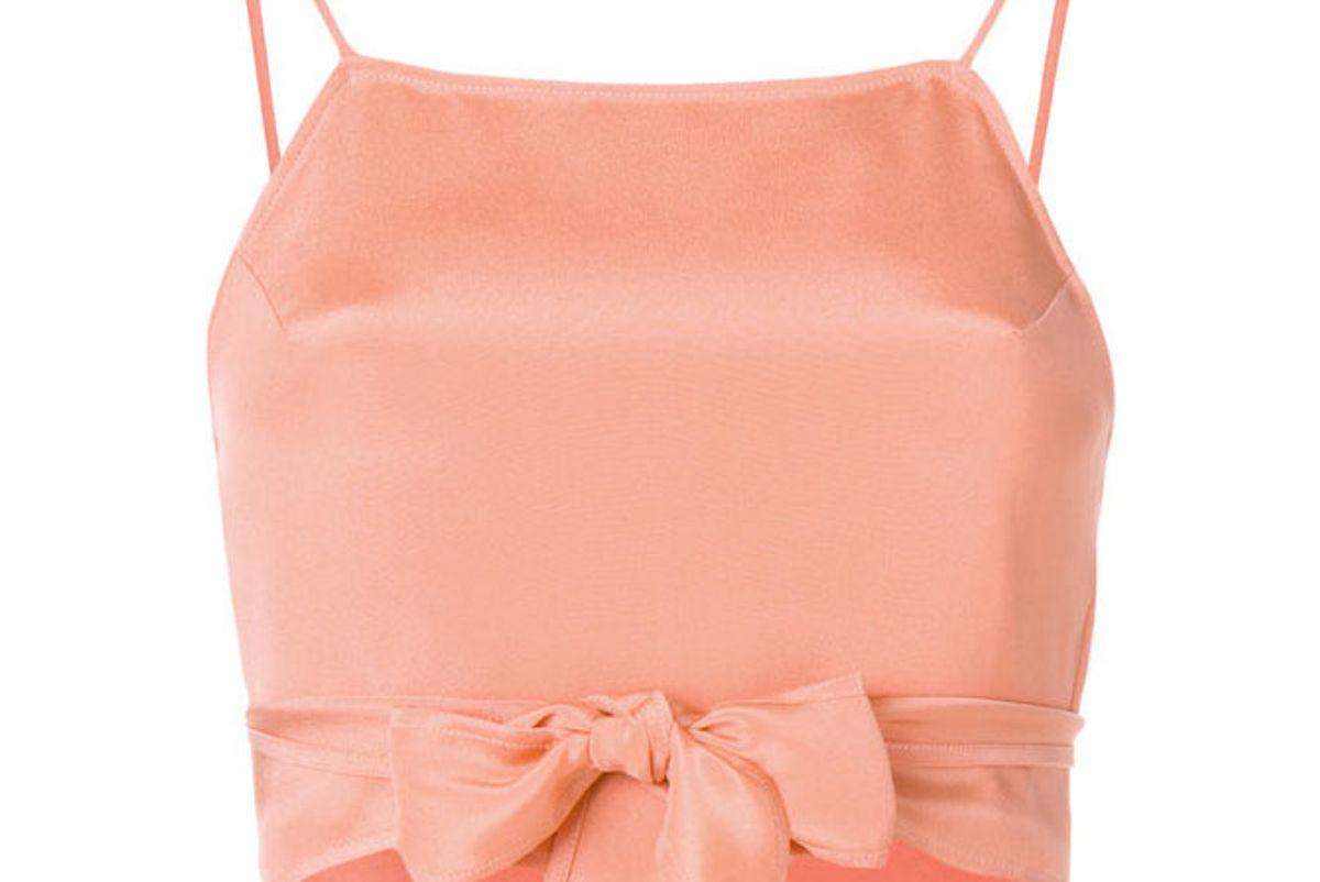 racil tie waist crop top