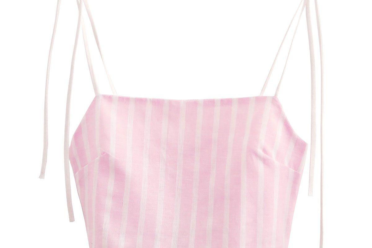 donni pink stripe tini top