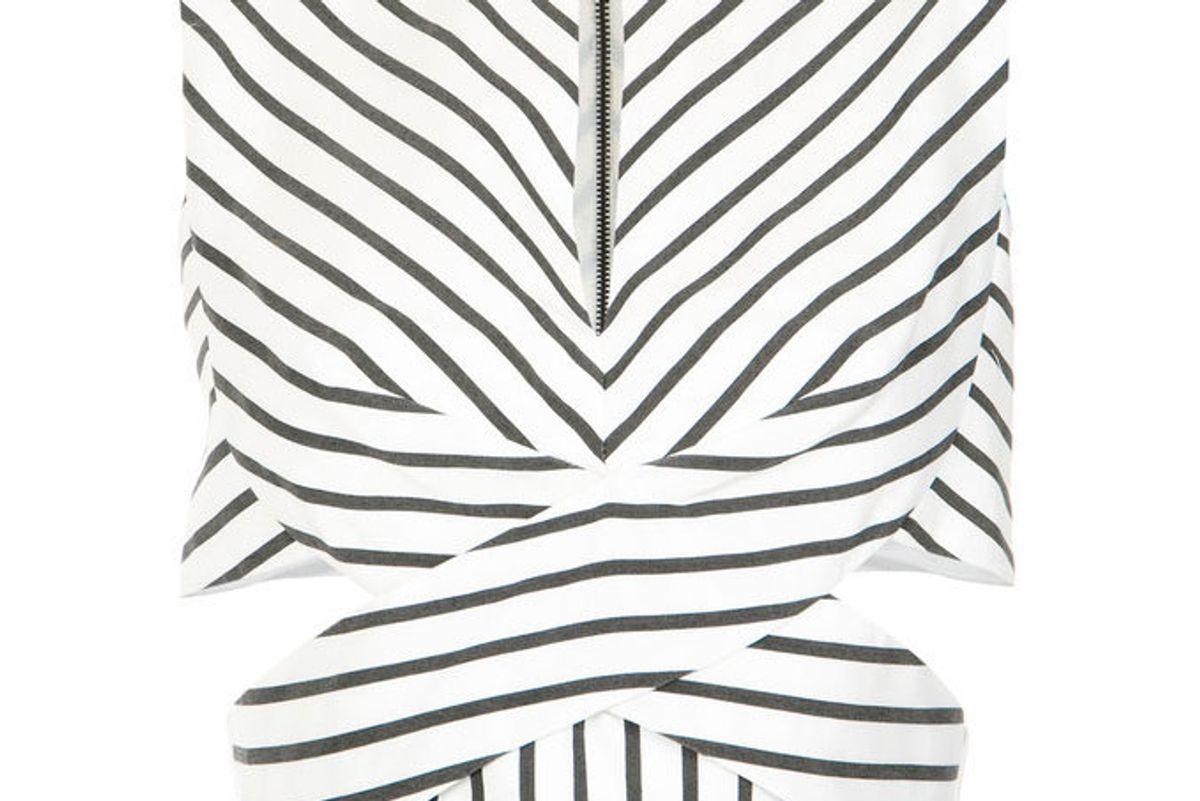 tufi duek striped crop top