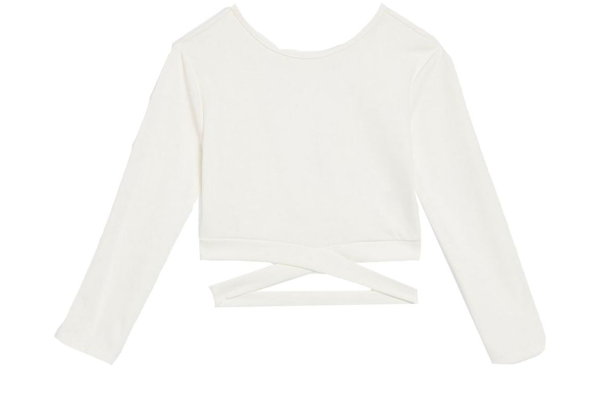 club l long sleeve cropped top