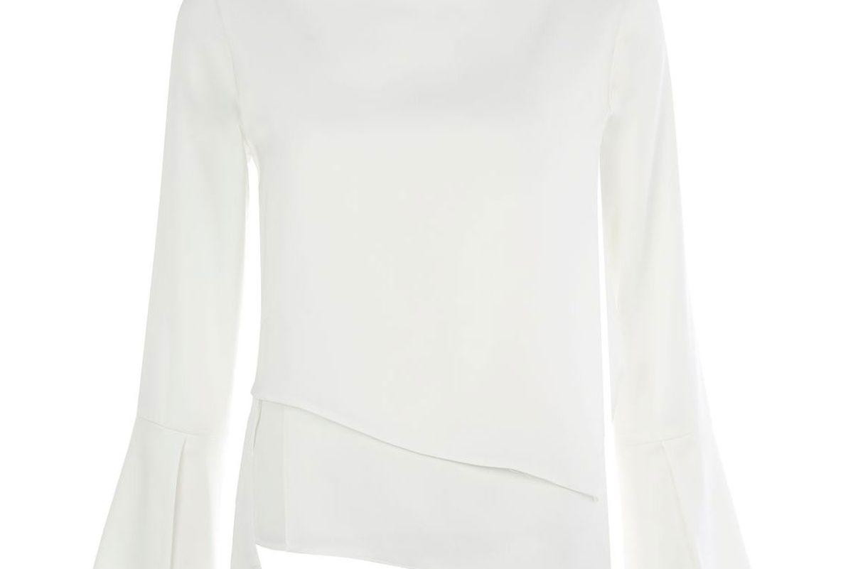 Overlay Split Sleeve Top