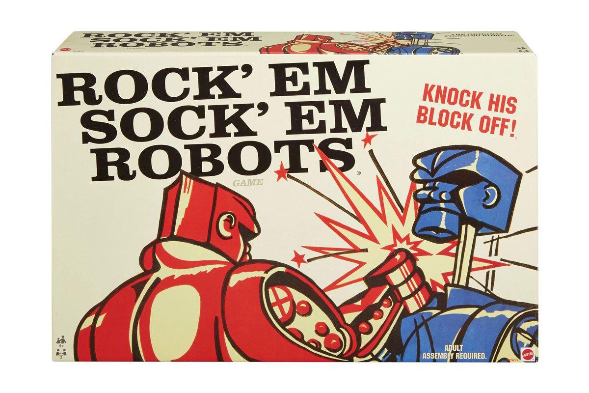 mattel rock em sock em robots board game