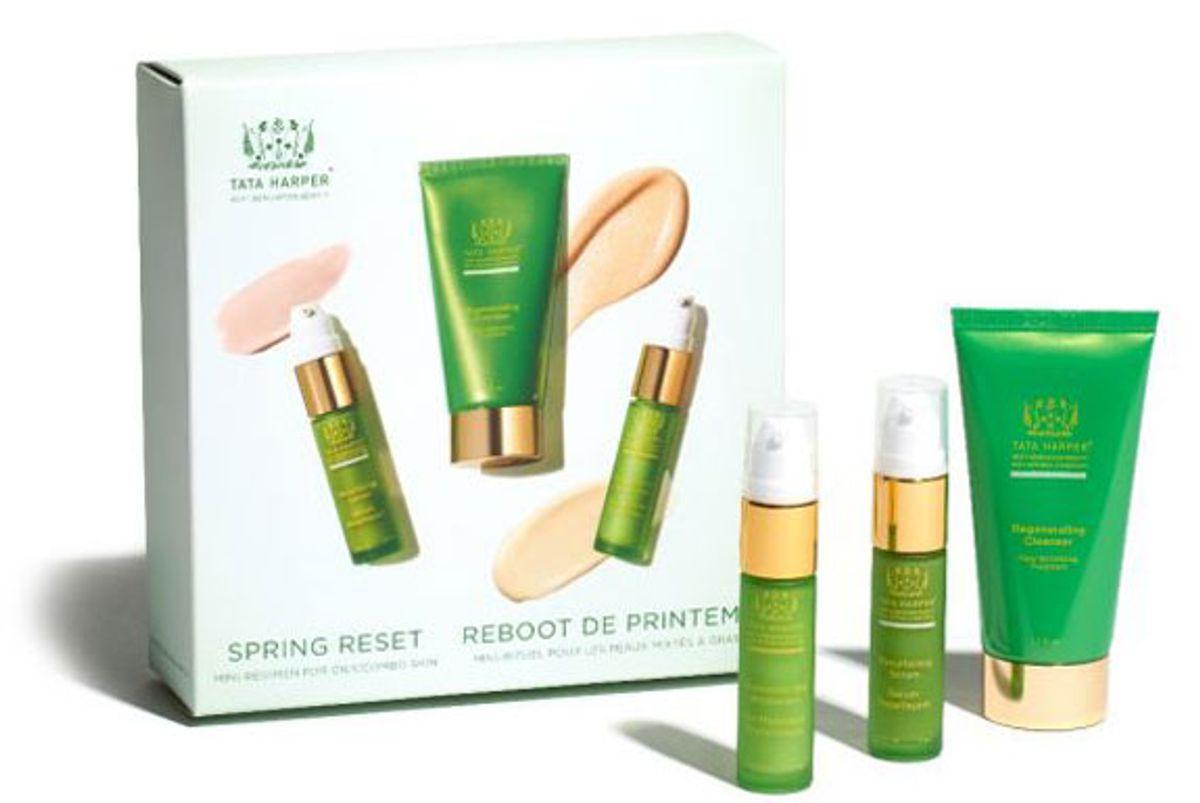 tata harper spring reset kit for oily combo skin