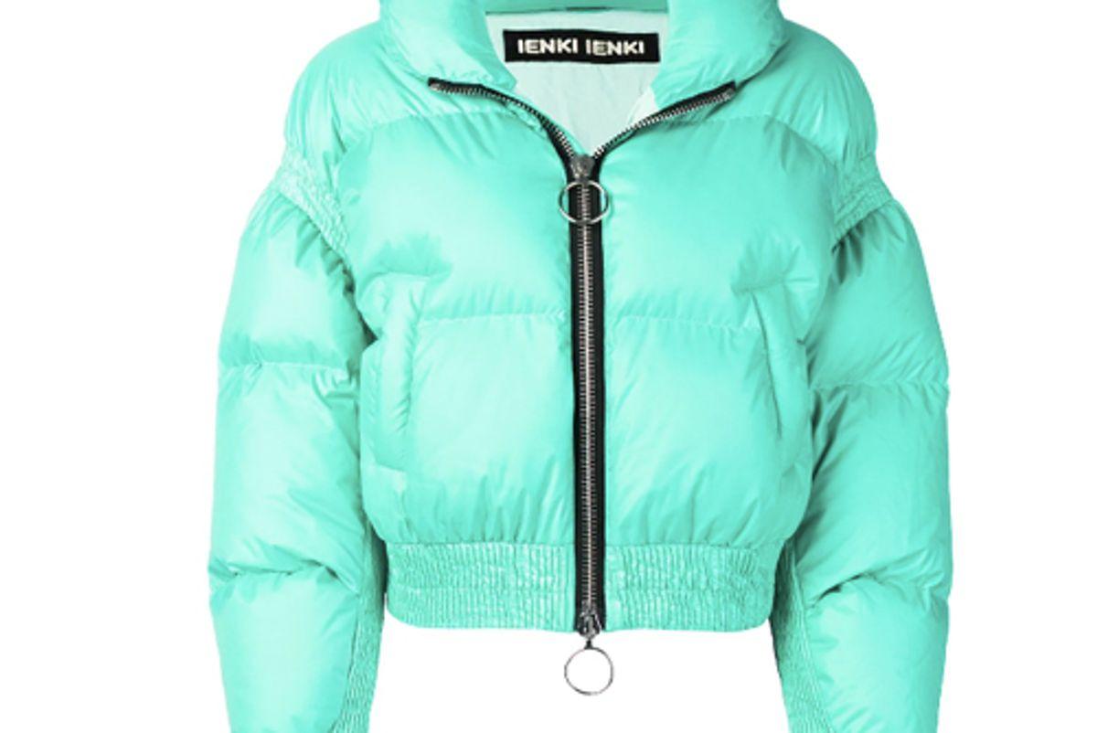 ienki ienki cropped puffer jacket