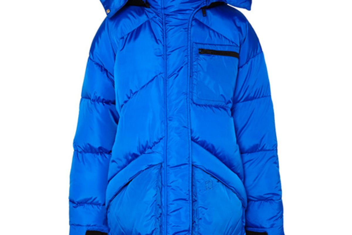 givenchy hooded felt trimmed quilted shell jacket