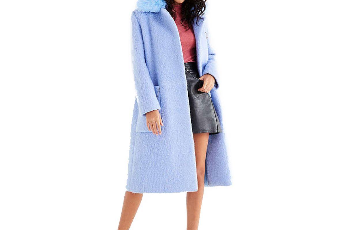 Faux Fur Top Coat