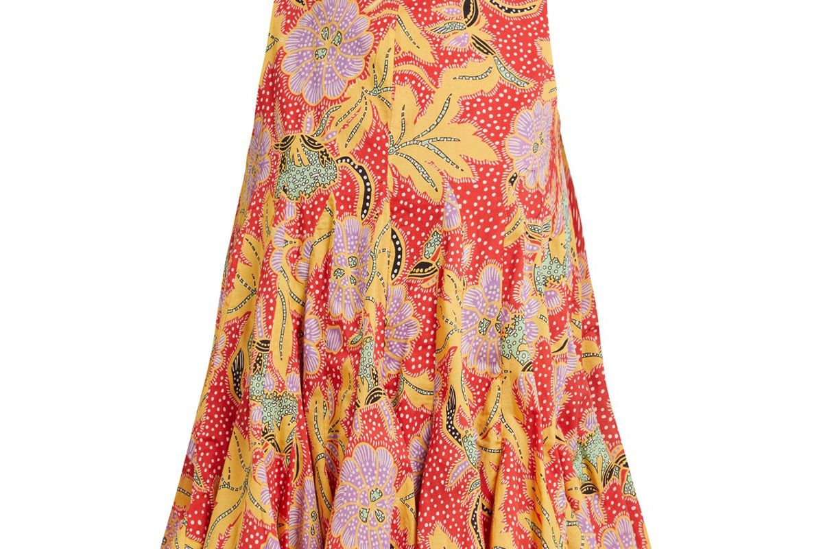 rhode clara floral print cotton top