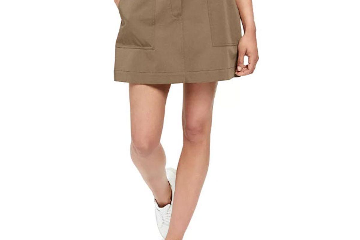 theory cargo mini skirt