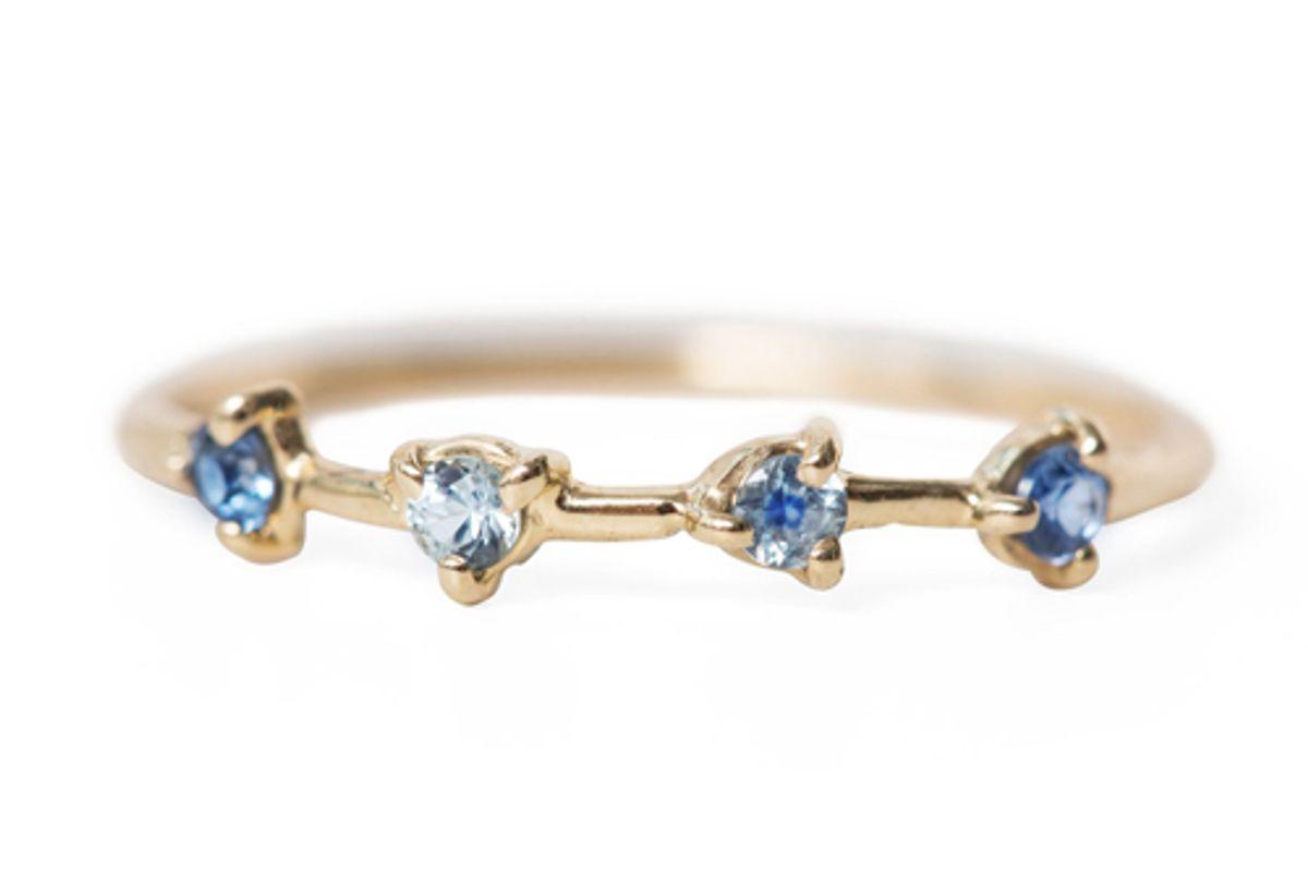 wwake four step ring sapphires