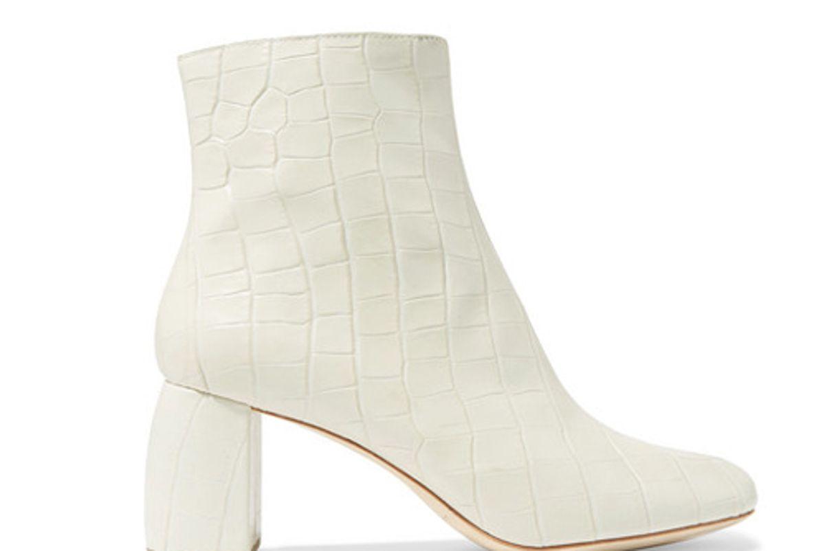 loeffler randall cooper snake effect leather ankle boots