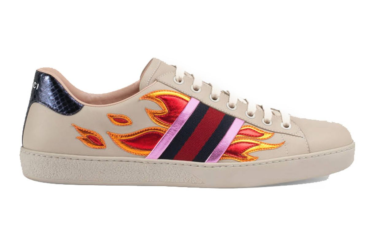Ace Sneaker with Flames