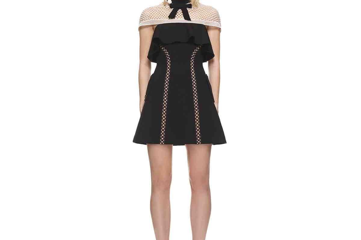 Capped Sleeve Mini Dress