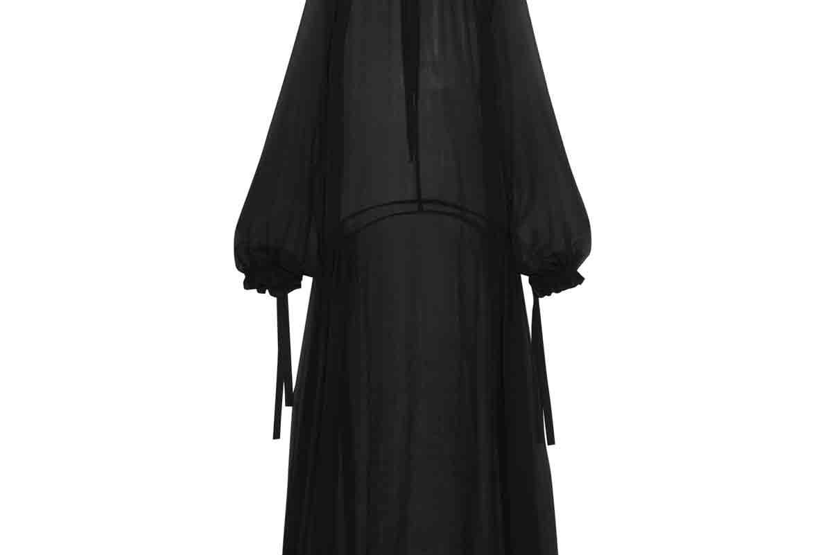 Silk-Georgette Maxi Dress