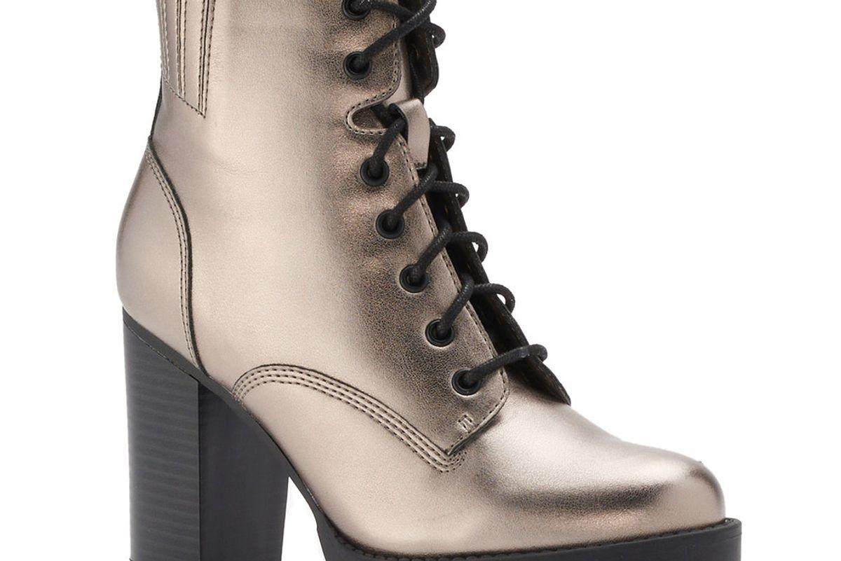 Josiee Women's High Heel Combat Boots