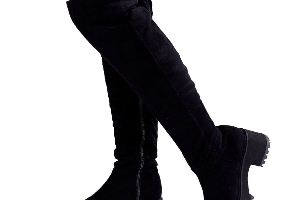 Kitsch Wide Fit Chunky Over The Knee Boots