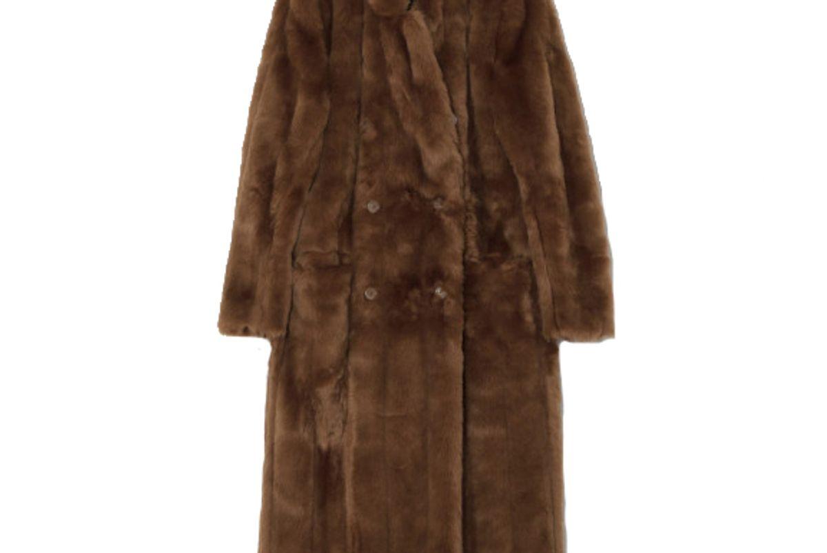 suzanne rae faux mink coat