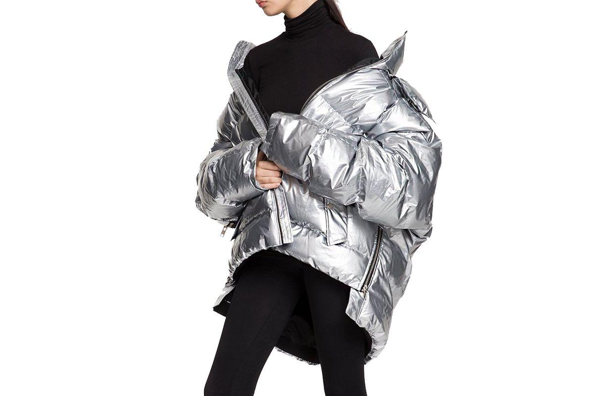 pixie market silver oversize puffy coat