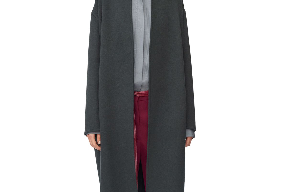 celine egg shape coat in double face cashmere