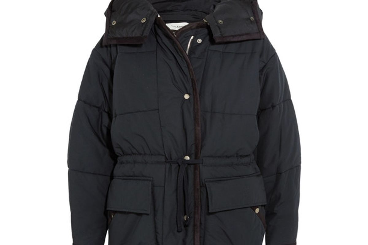 isabel marant bulle oversize hooded quilted shell jacket