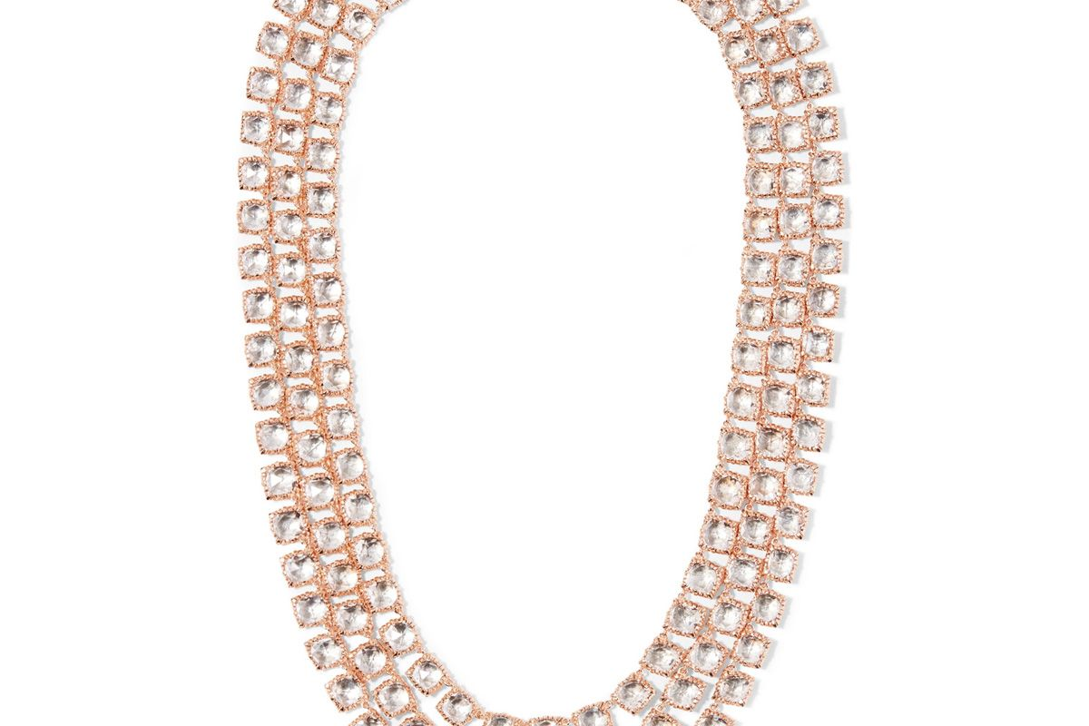 Antoinette Rivière Rose Gold-Dipped Topaz Necklace