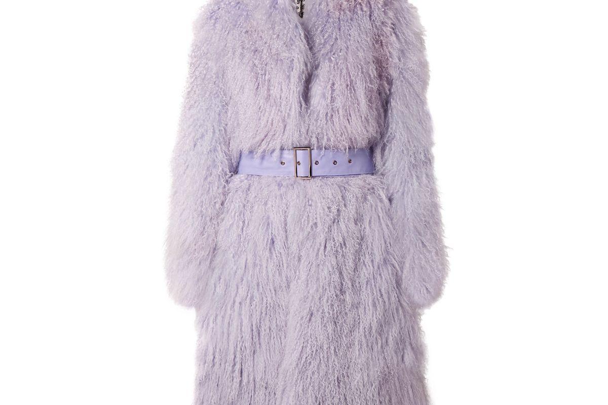 aks potts belted shearling coat