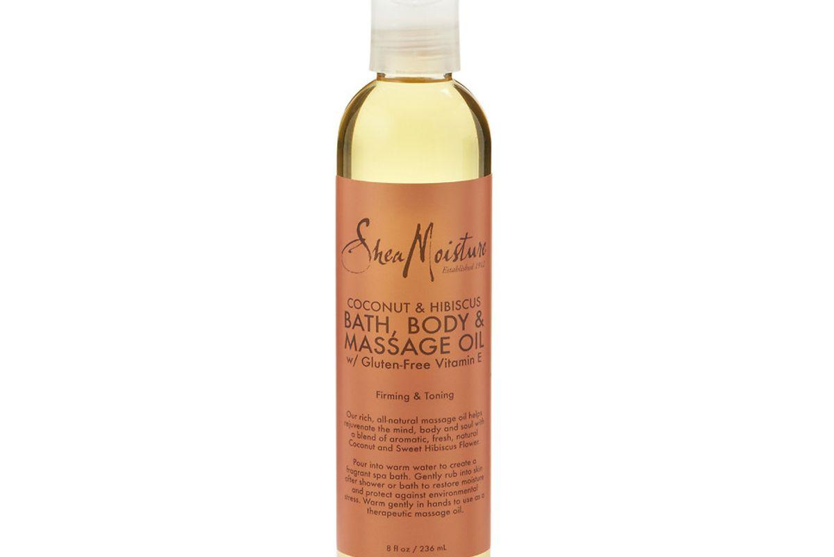 shea moisture coconut hibiscus bath body massage oil