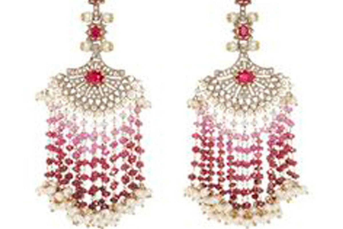 Ruby Fan Earrings